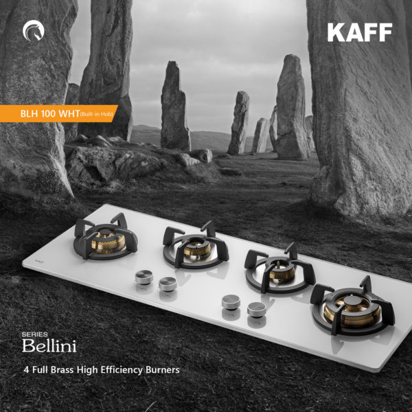 BLH 100 WH | 4 Full Brass High Efficiency Burners |Flame Failure Device | Built in Hob
