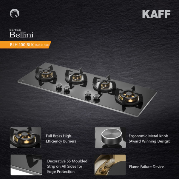 BLH 100 blk | Full Brass High Efficiency Burners | Built in Hob