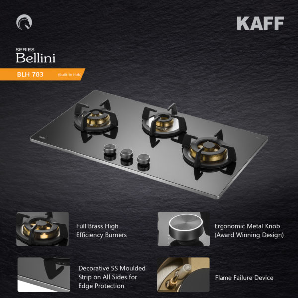 BLH 783 | Full Brass Burners | Flame Failure Device | Metal Knobs | Auto Ignition