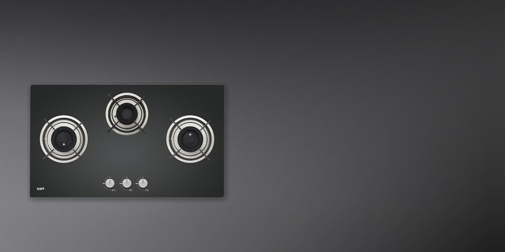 CRH 783 | Black Coated Tornado Style Burners |Metal Knobs | Built in Hob