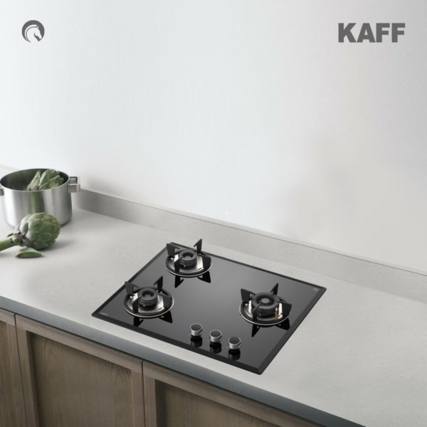 FBB 603 | Bevelled Black Tempered Glass | Stainless Steel Drip Tray | Built in Hob