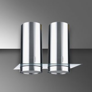 FLORA TWIN DX - 120 (ISLAND) | Unique Twin Cylinder Design | Stainless Steel Finish