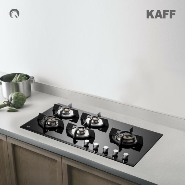 KH 86 BR 53 | Powerful Brass Burners | Auto Ignition | Cast Iron Grills | Metal Knobs | Built in Hob