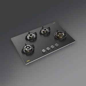 MSM 804 | Full Brass High Efficiency Burners with FFD | Ergonomic Designer Metal Knobs