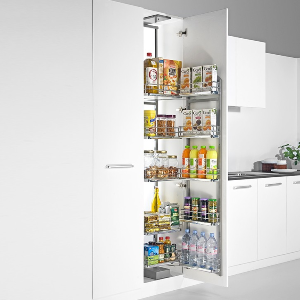 Tall Pantry Single with Wire base Baskets 450 /600