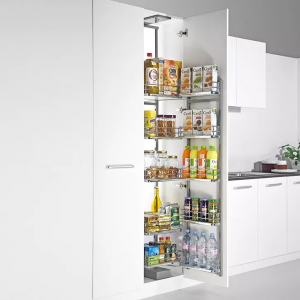 Tall Pantry Single with Solid Base Basket